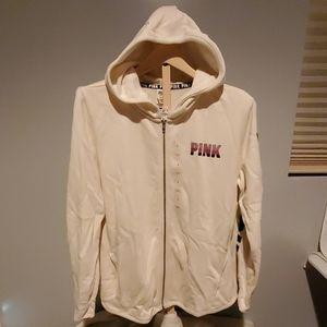 NWT Victoria Secret PINK hoodie sweatshirt sz lrg